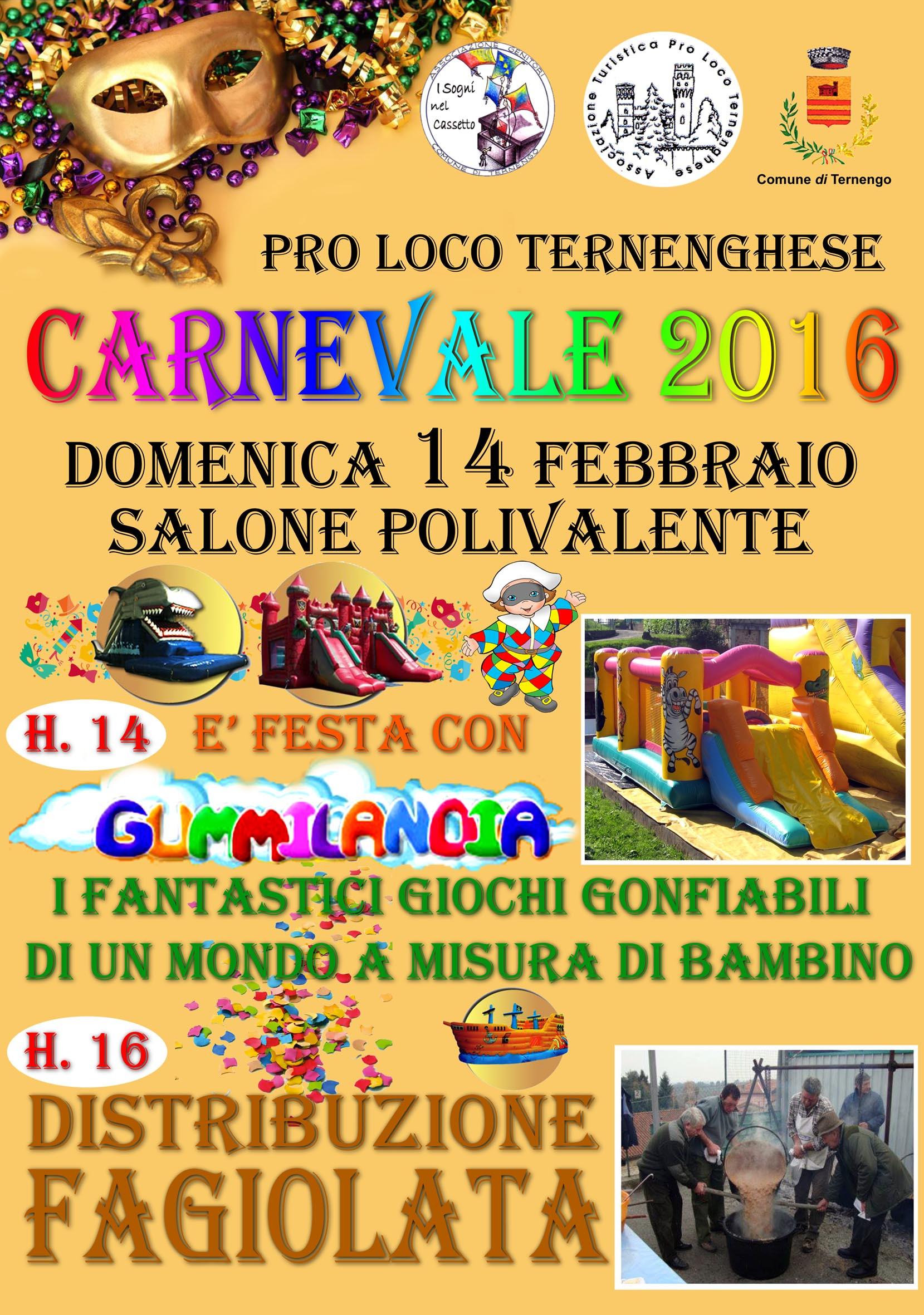locandina carnevale 2016